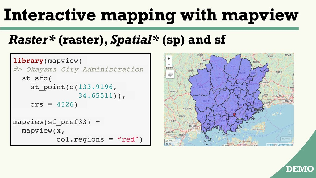 Interactive mapping with mapview DEMO library(m...