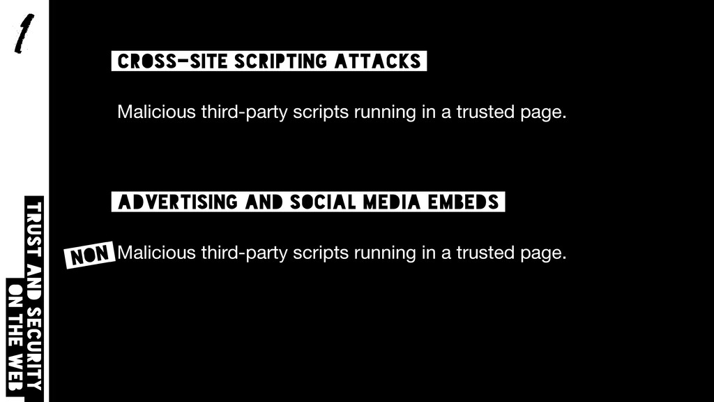 1 Trust and security on the web cross-site scri...