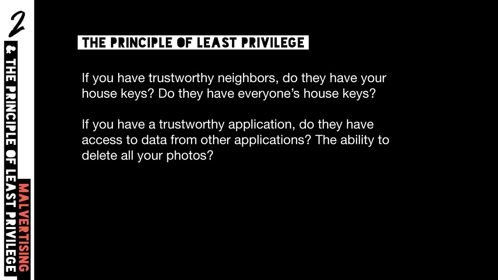 2 Malvertising & The principle of least privile...