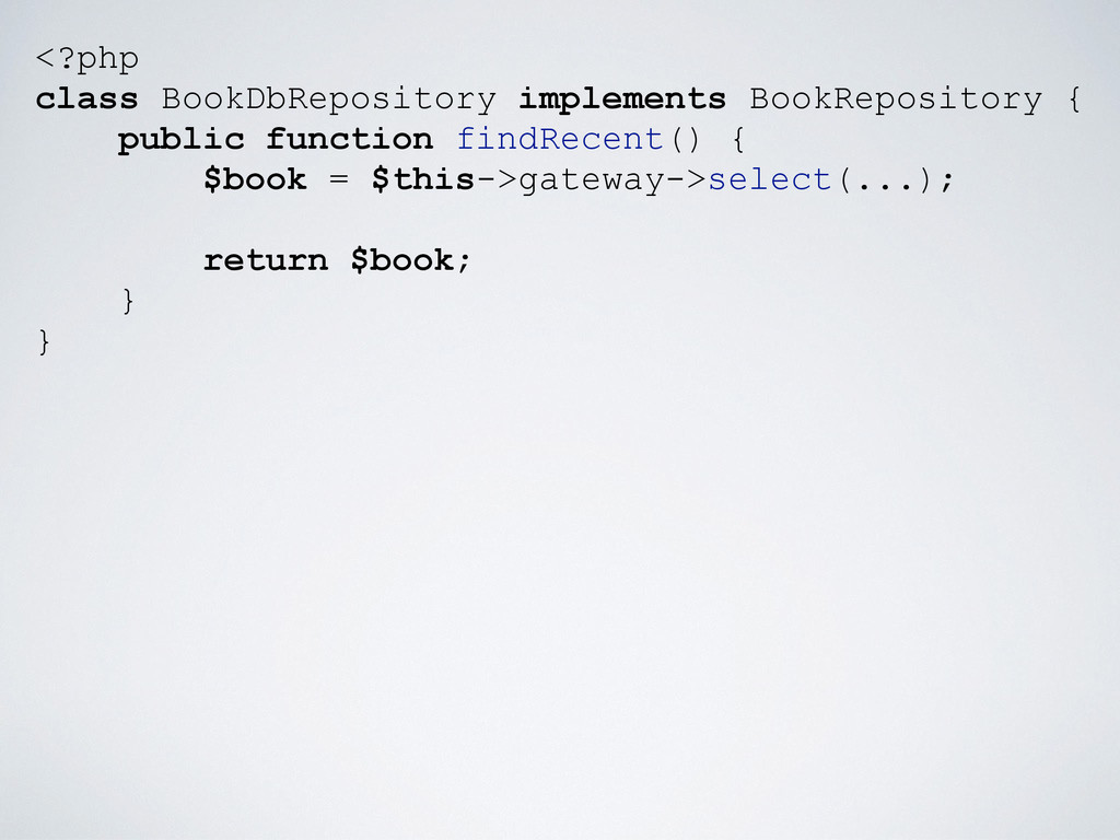 <?php class BookDbRepository implements BookRep...