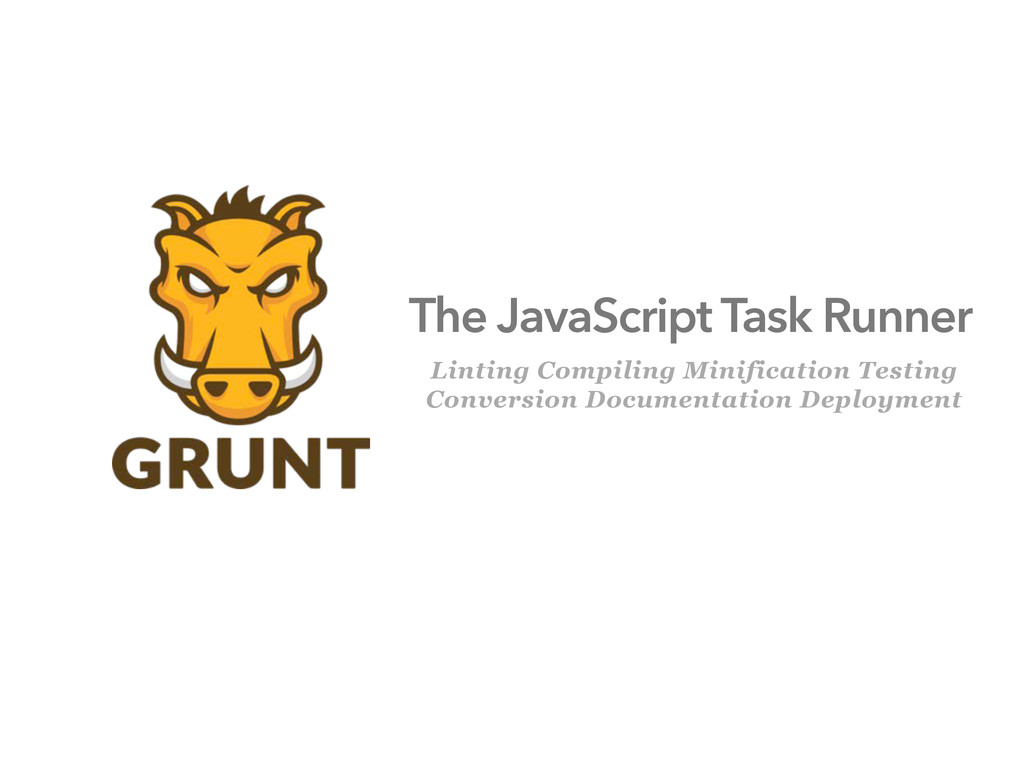 The JavaScript Task Runner Linting Compiling Mi...