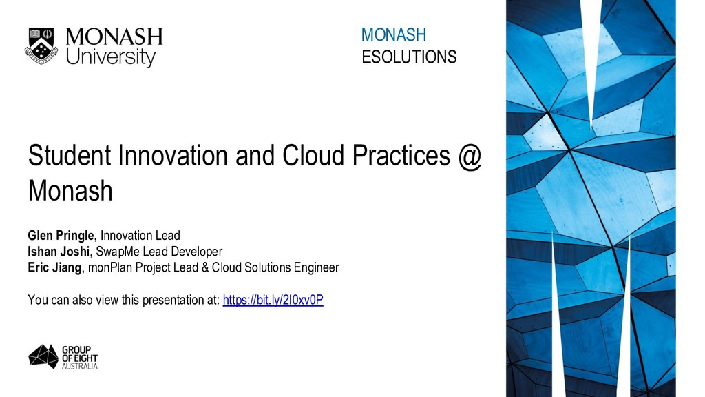 Student Innovation and Cloud Practices @ Monash...