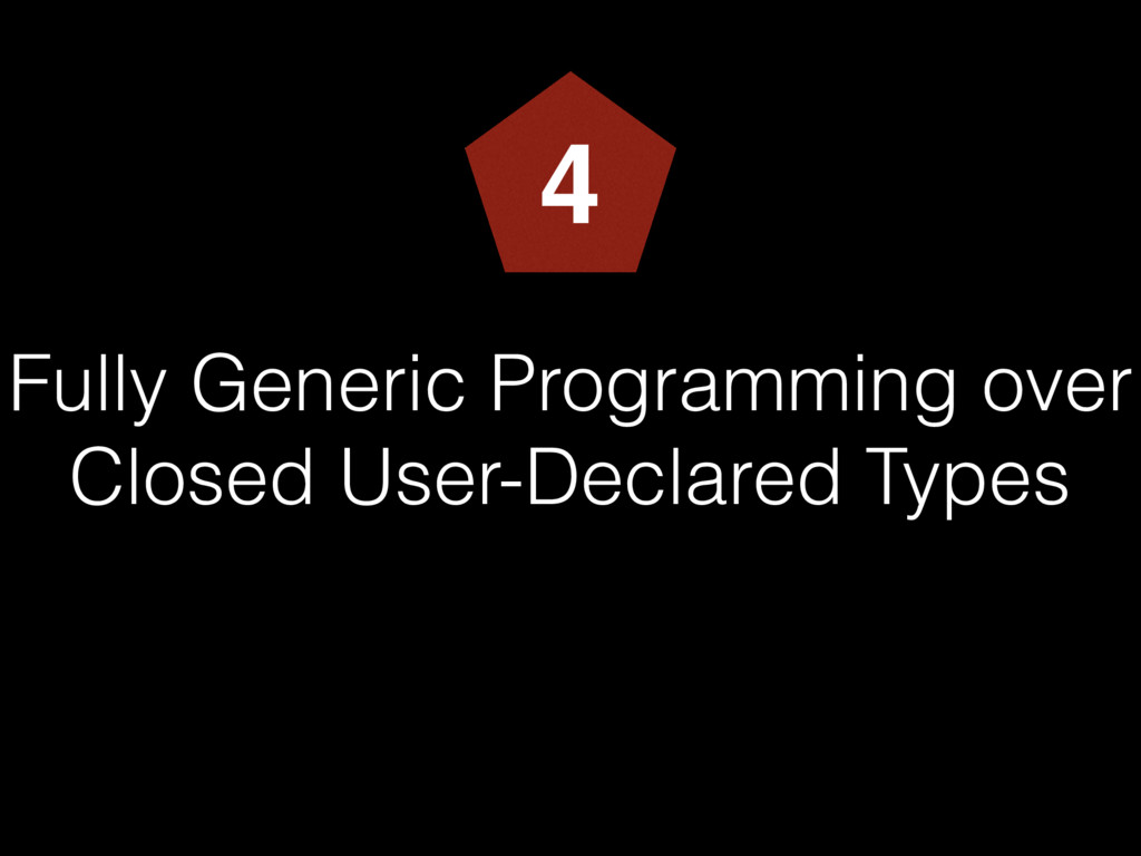 Fully Generic Programming over Closed User-Decl...