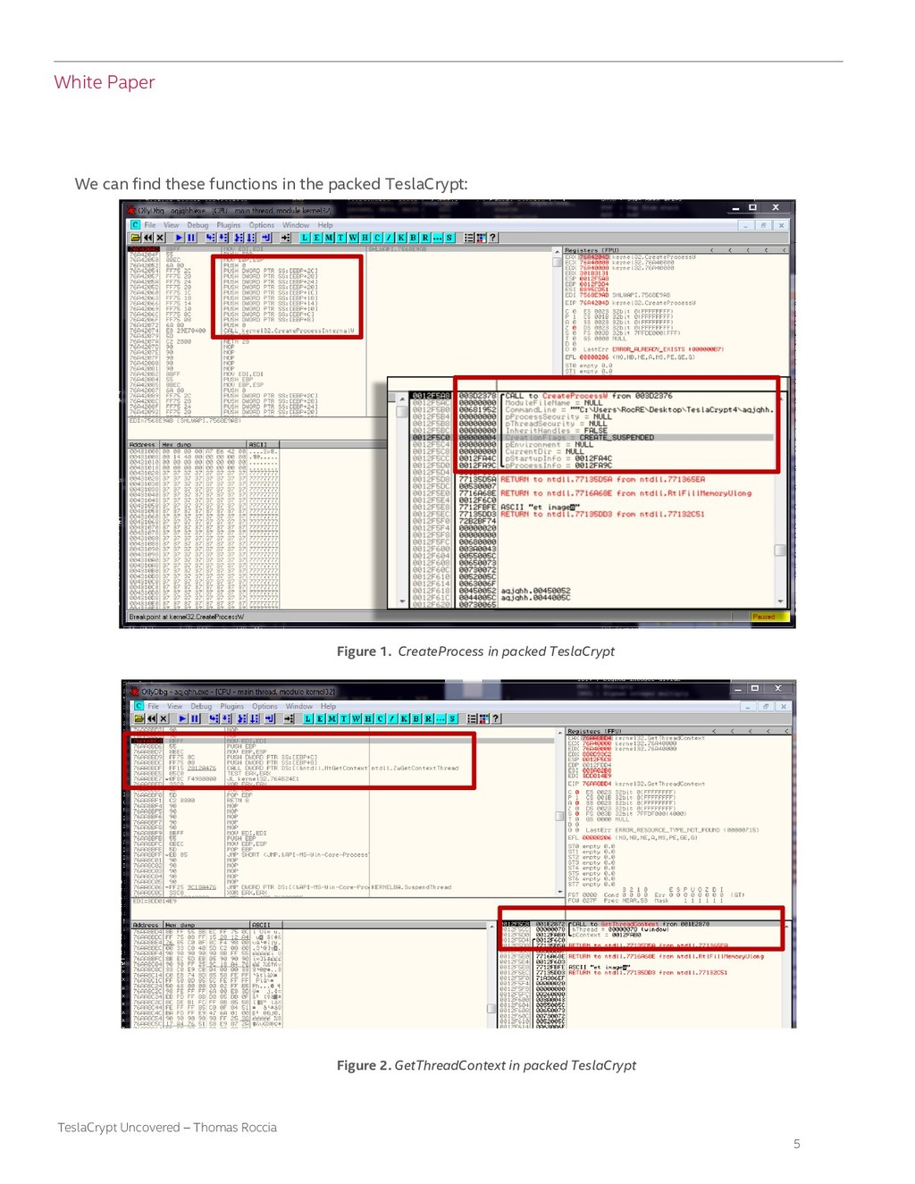 White Paper 5 TeslaCrypt Uncovered – Thomas Roc...