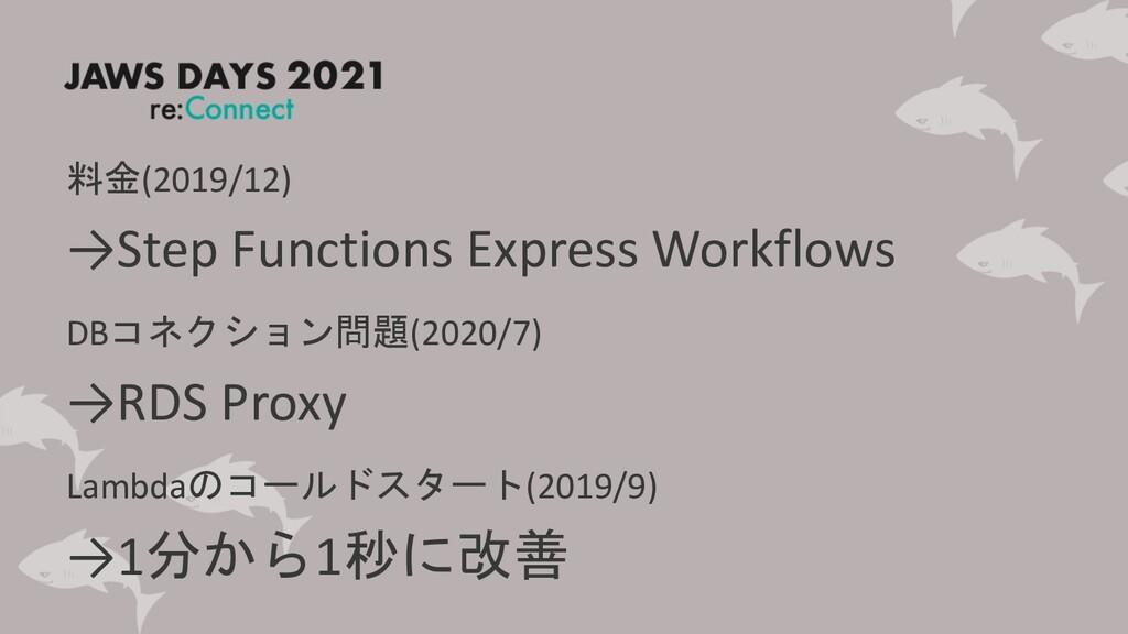 料金(2019/12) →Step Functions Express Workflows D...