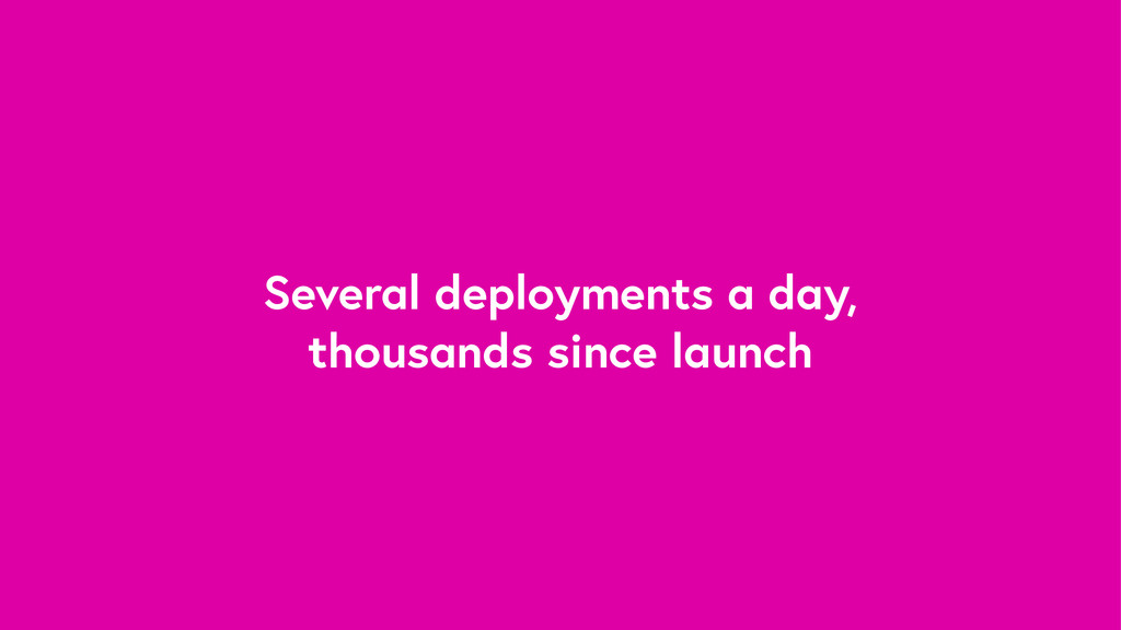 Several deployments a day, thousands since laun...