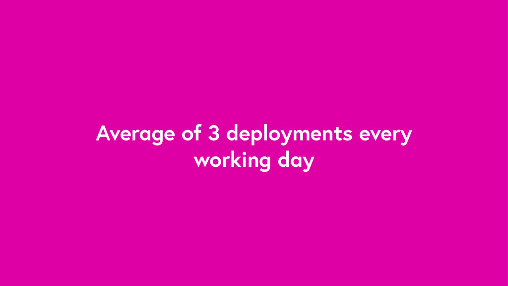 Average of 3 deployments every working day