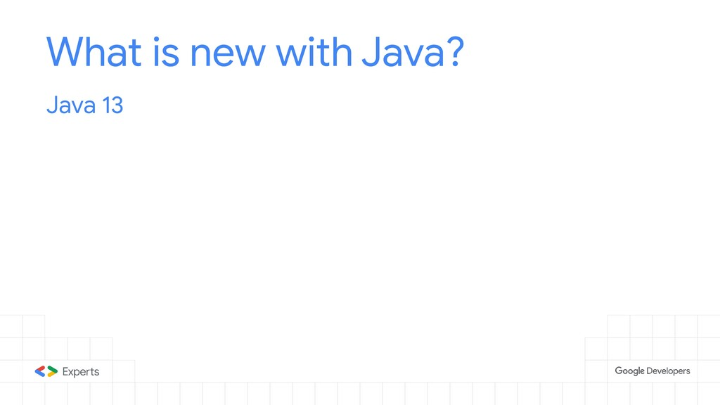 What is new with Java? Java 13