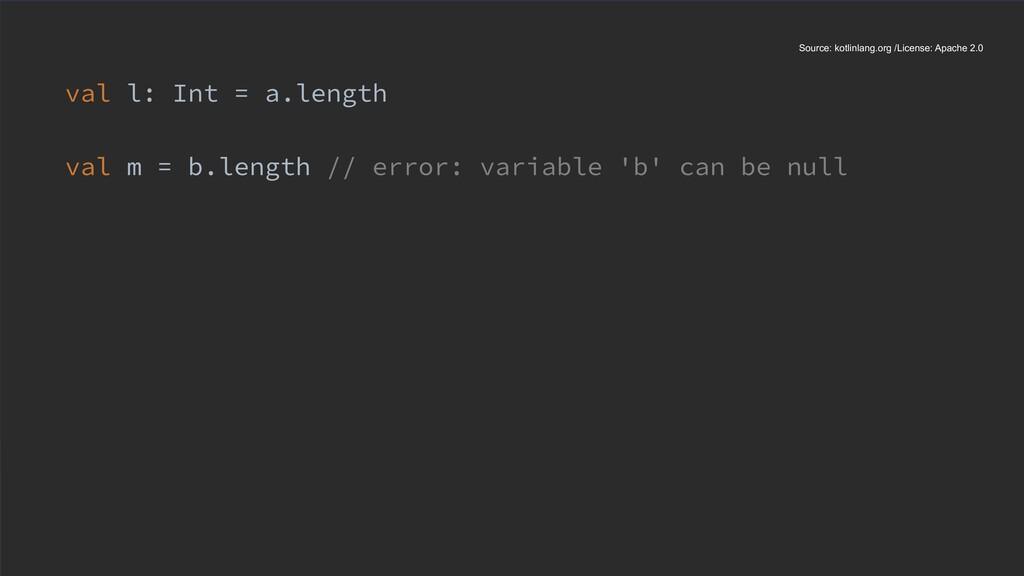 val l: Int = a.length val m = b.length // error...