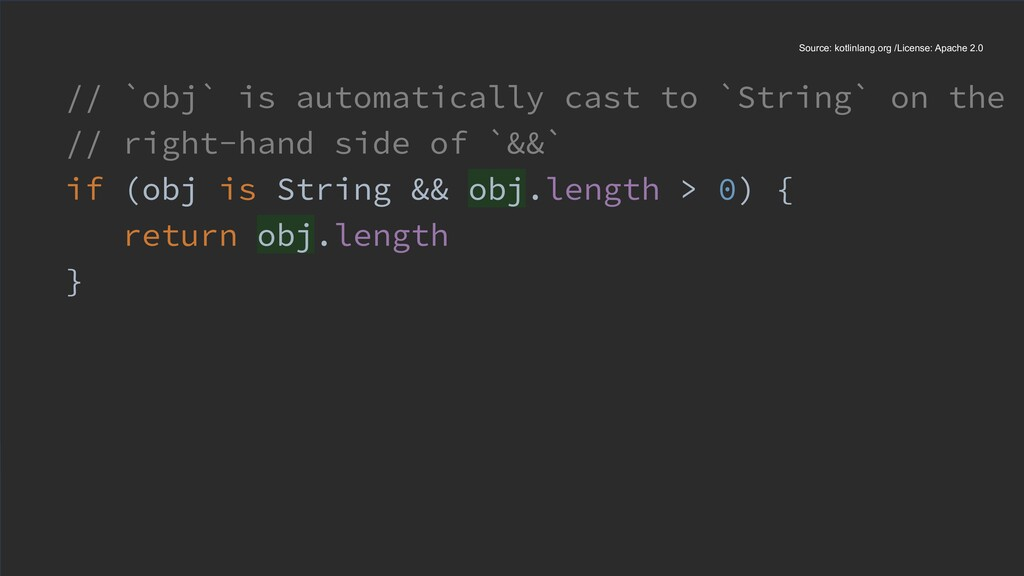 // `obj` is automatically cast to `String` on t...