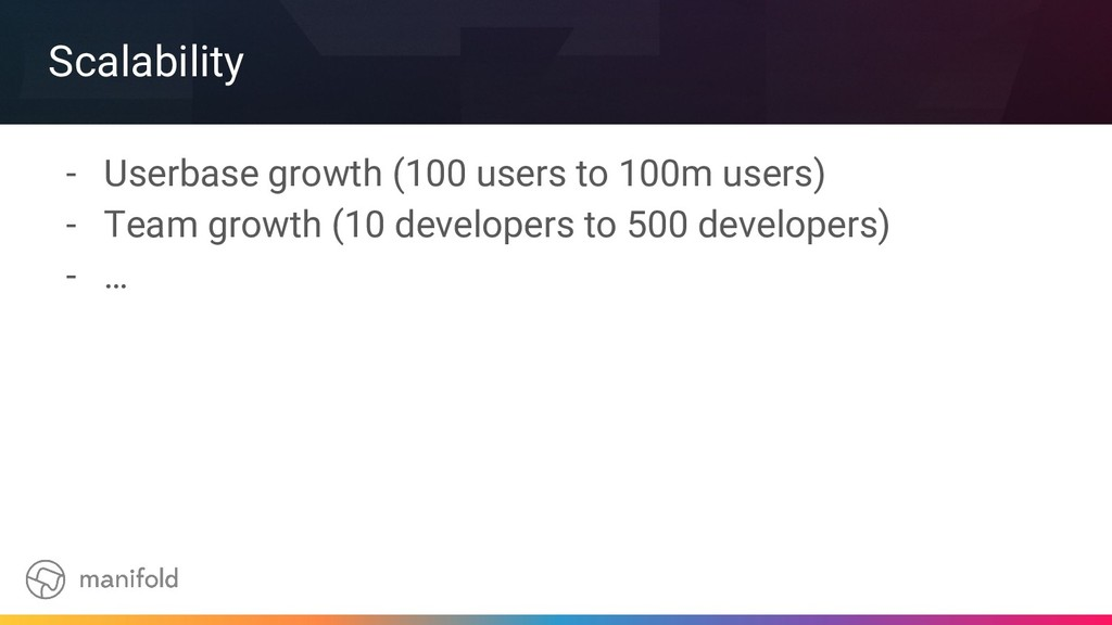 Scalability - Userbase growth (100 users to 100...