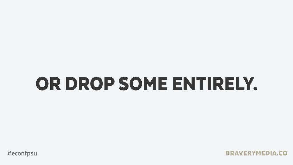BRAVERYMEDIA.CO OR DROP SOME ENTIRELY. #econfpsu