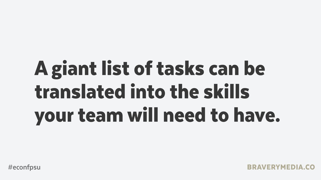 BRAVERYMEDIA.CO A giant list of tasks can be tr...