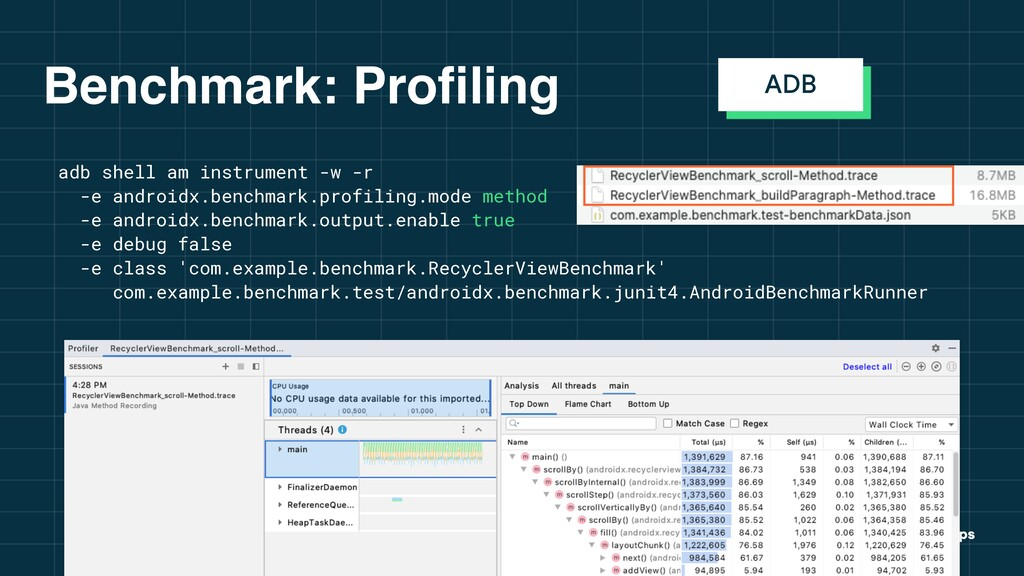 GDG Incheon Benchmark: Profiling adb shell am i...