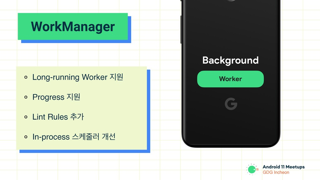 GDG Incheon WorkManager ० Long-running Worker ૑...