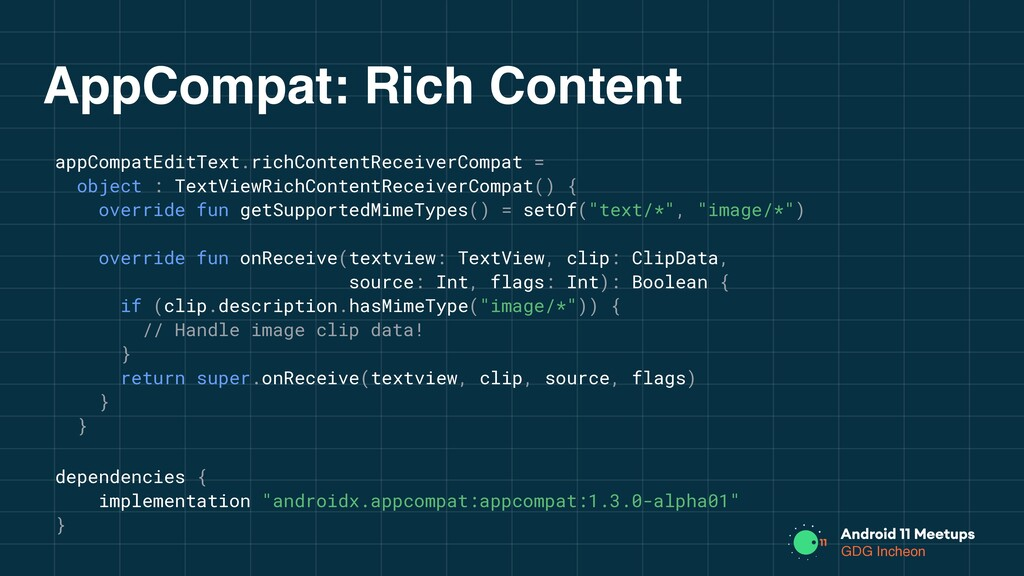 GDG Incheon AppCompat: Rich Content appCompatEd...