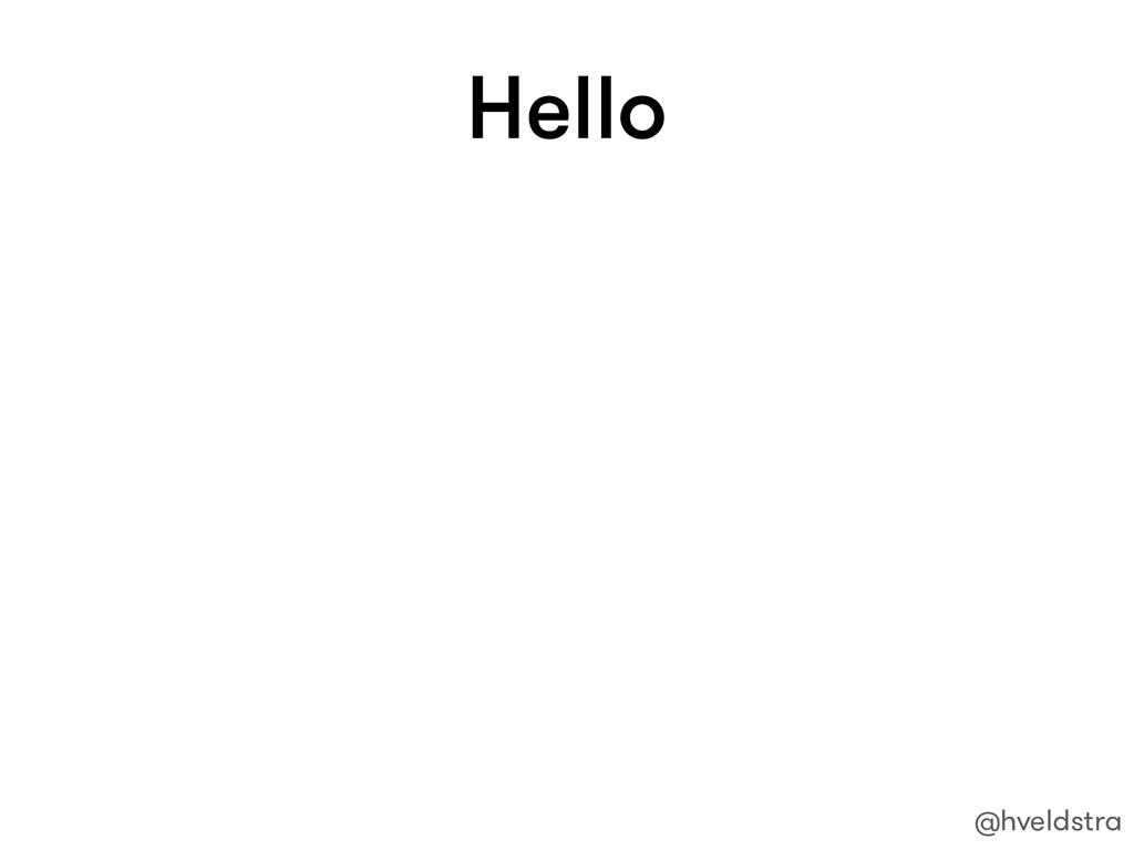 Hello @hveldstra