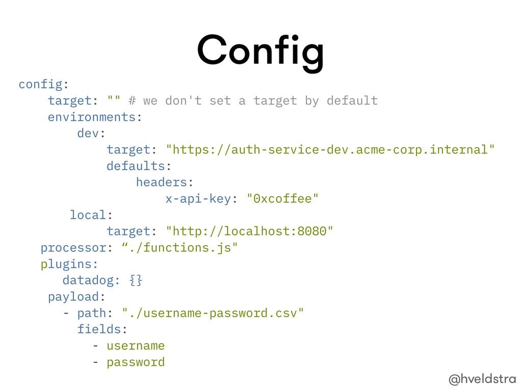 """Config config: target: """""""" # we don't set a targe..."""