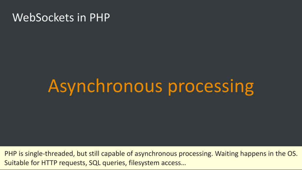 WebSockets in PHP Asynchronous processing PHP i...