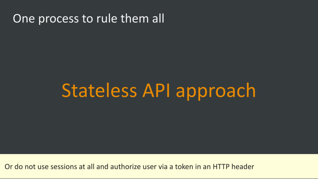 One process to rule them all Stateless API appr...