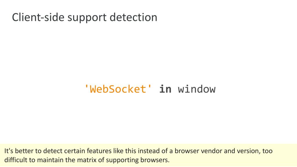 Client-side support detection 'WebSocket' in wi...