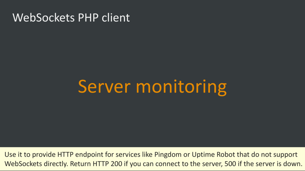WebSockets PHP client Server monitoring Use it ...