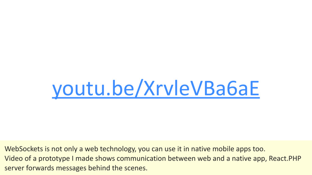 youtu.be/XrvleVBa6aE WebSockets is not only a w...