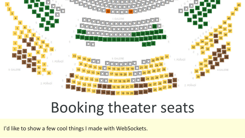 Booking theater seats I'd like to show a few co...