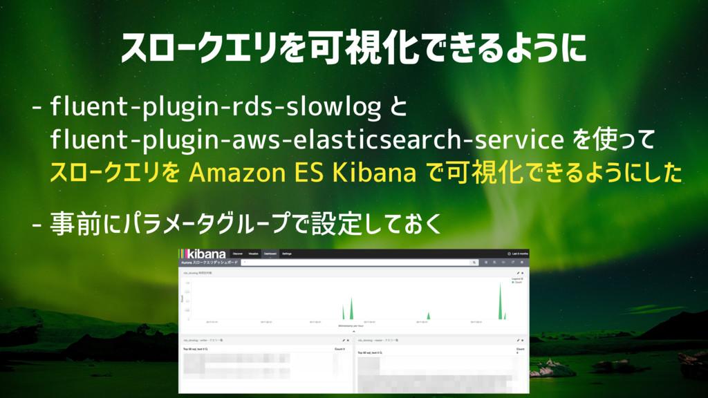 スロークエリを可視化できるように - fluent-plugin-rds-slowlog と...