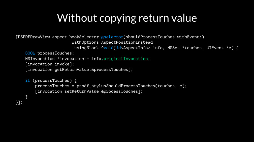 Without copying return value [PSPDFDrawView asp...