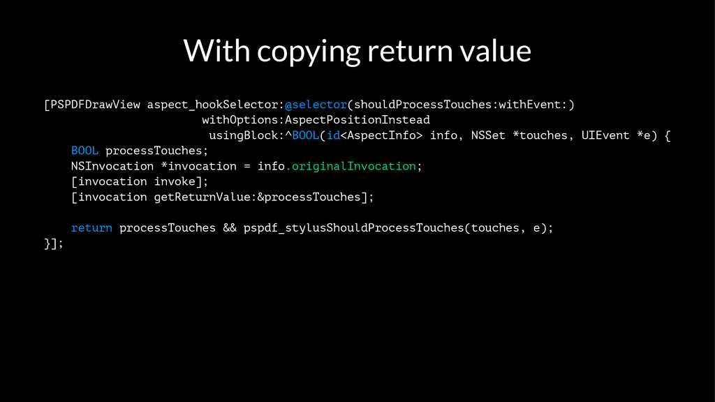 With copying return value [PSPDFDrawView aspect...