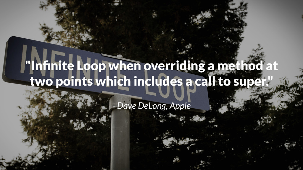 """""""Infinite Loop when overriding a method at two p..."""