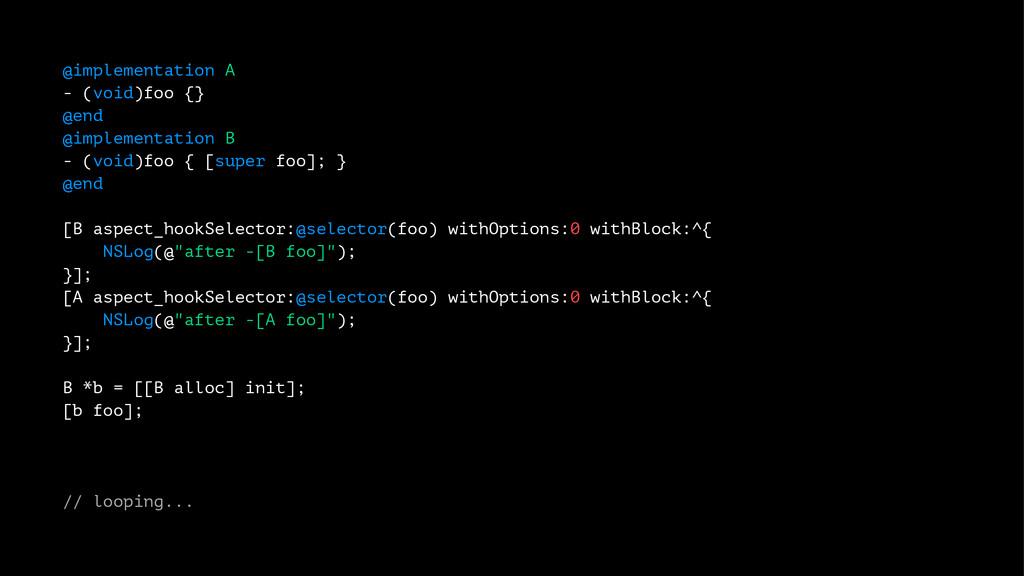 @implementation A - (void)foo {} @end @implemen...