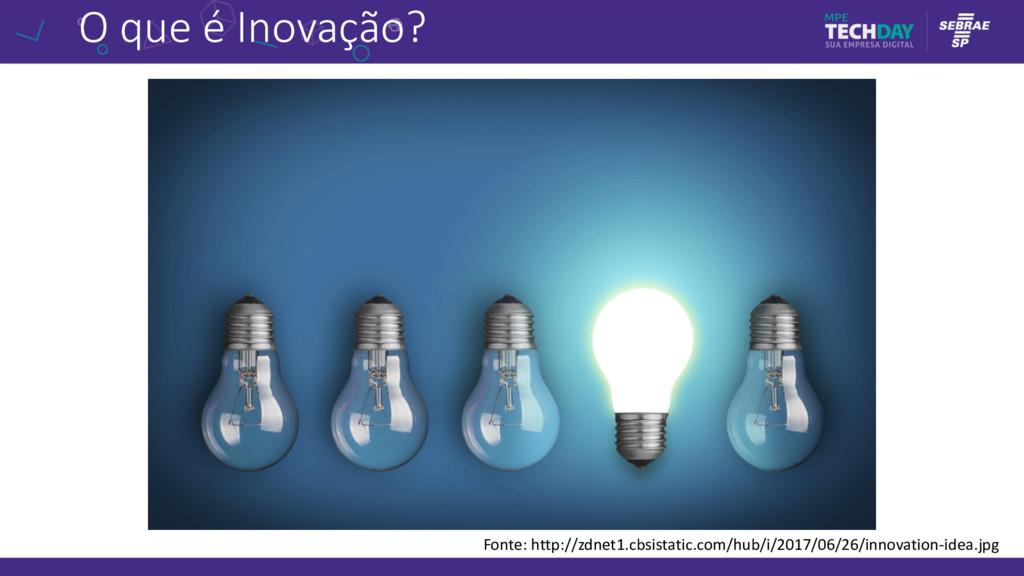 O que é Inovação? Fonte: http://zdnet1.cbsistat...