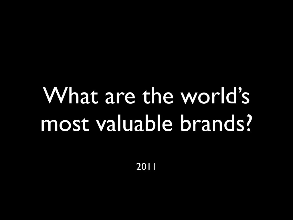 What are the world's most valuable brands? 2011