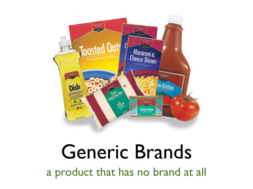 Generic Brands a product that has no brand at a...