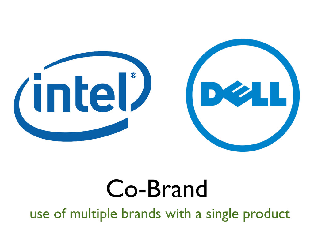 Co-Brand use of multiple brands with a single p...