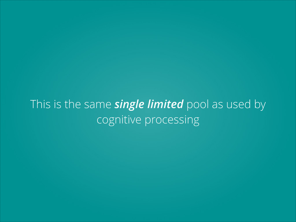 This is the same single limited pool as used by...
