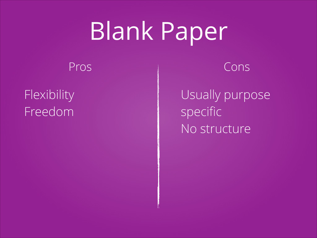 Blank Paper Pros Cons Flexibility Freedom Usual...