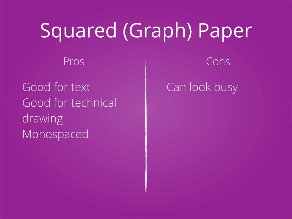 Squared (Graph) Paper Pros Cons Good for text G...