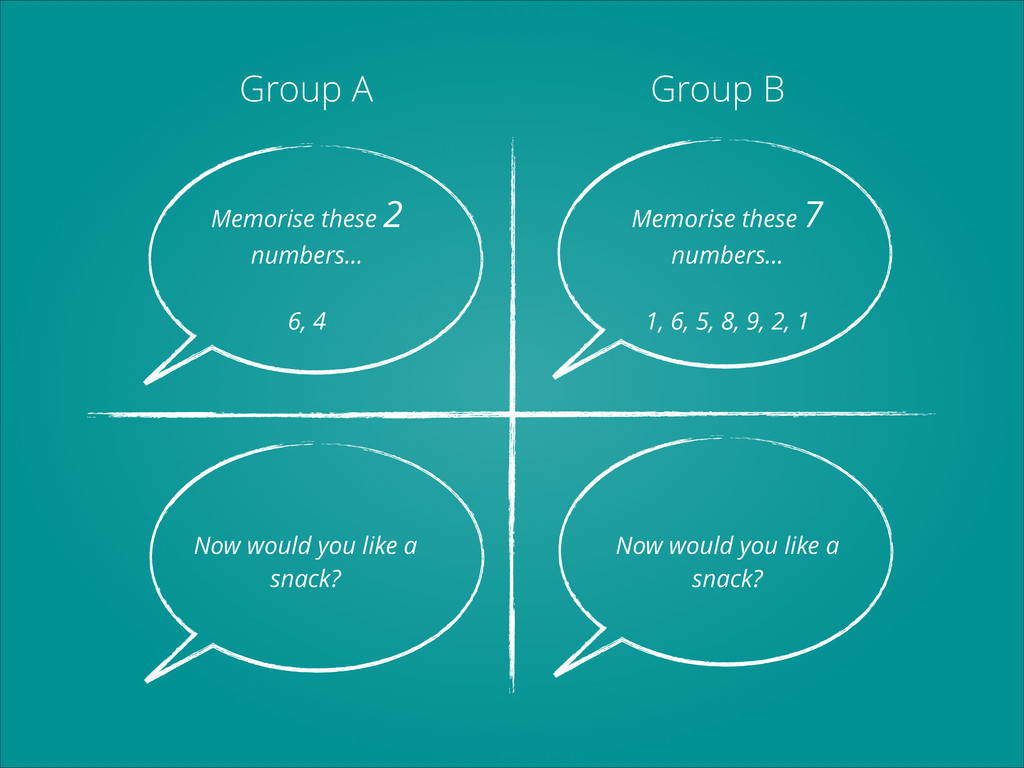 Group A Group B Memorise these 2 numbers... ! 6...