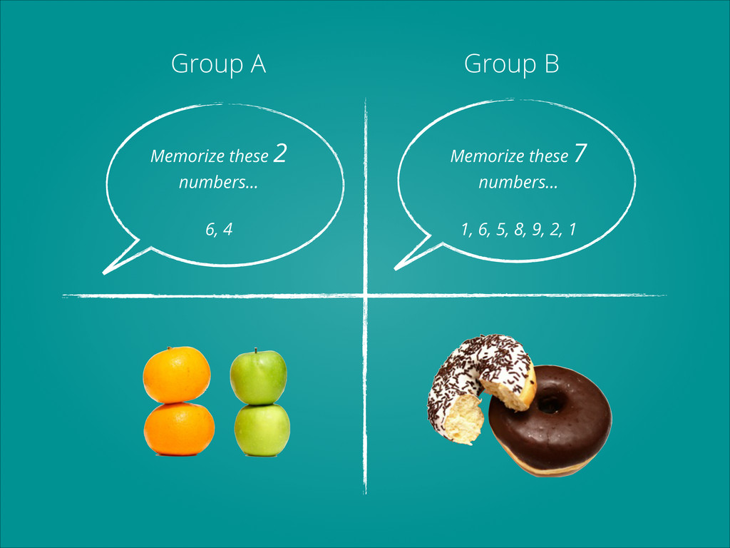 Group A Group B Memorize these 2 numbers... ! 6...