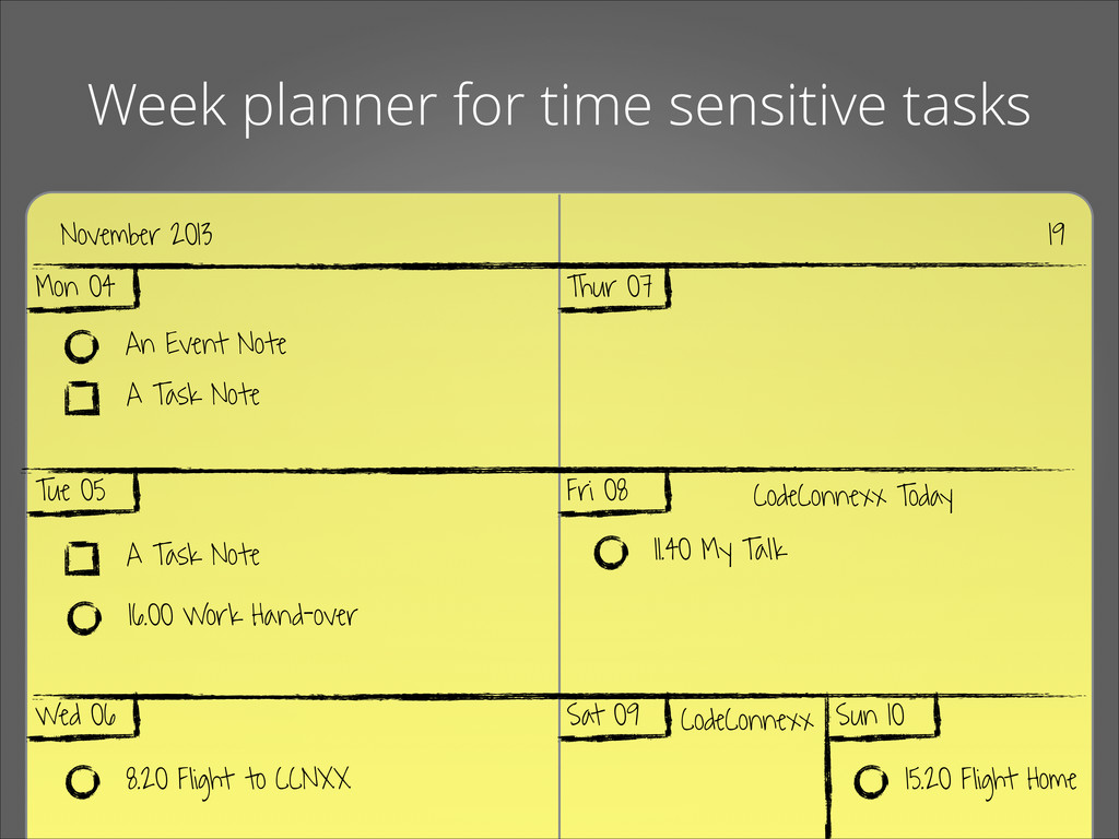 Week planner for time sensitive tasks November ...