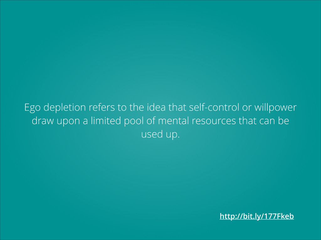 Ego depletion refers to the idea that self-cont...