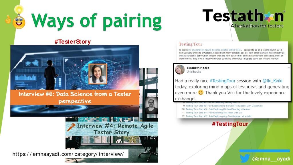 @emna__ayadi #TesterStory #TestingTour https://...