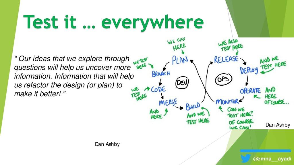 """Dan Ashby """" Our ideas that we explore through q..."""