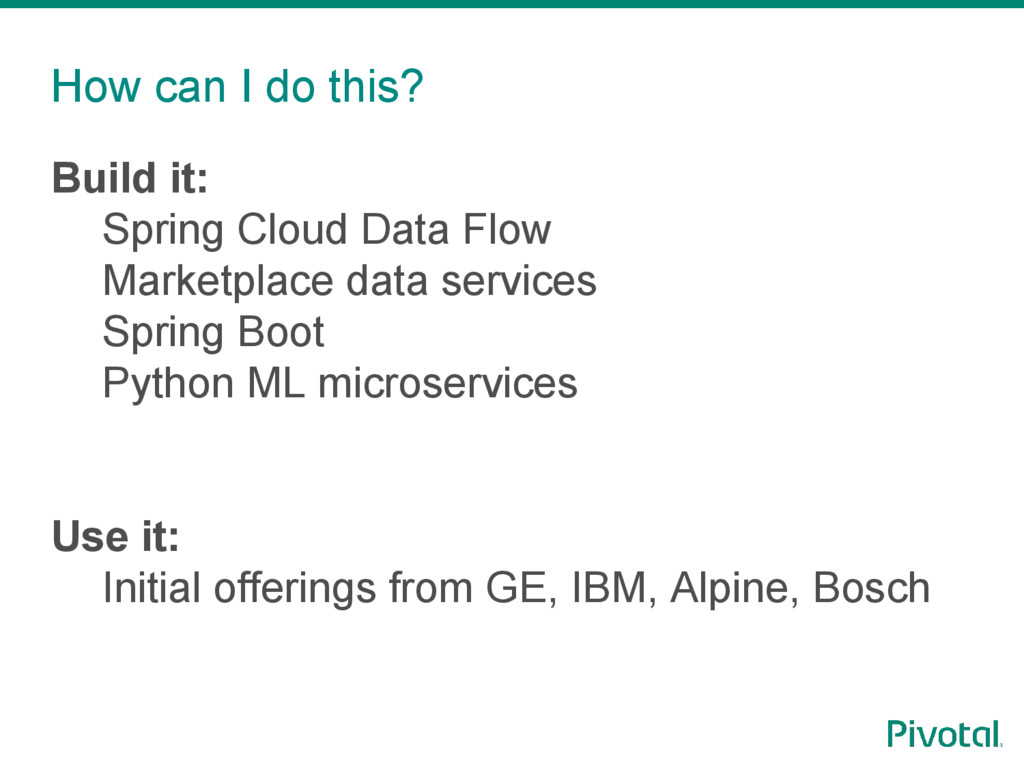 How can I do this? Build it: Spring Cloud Data ...