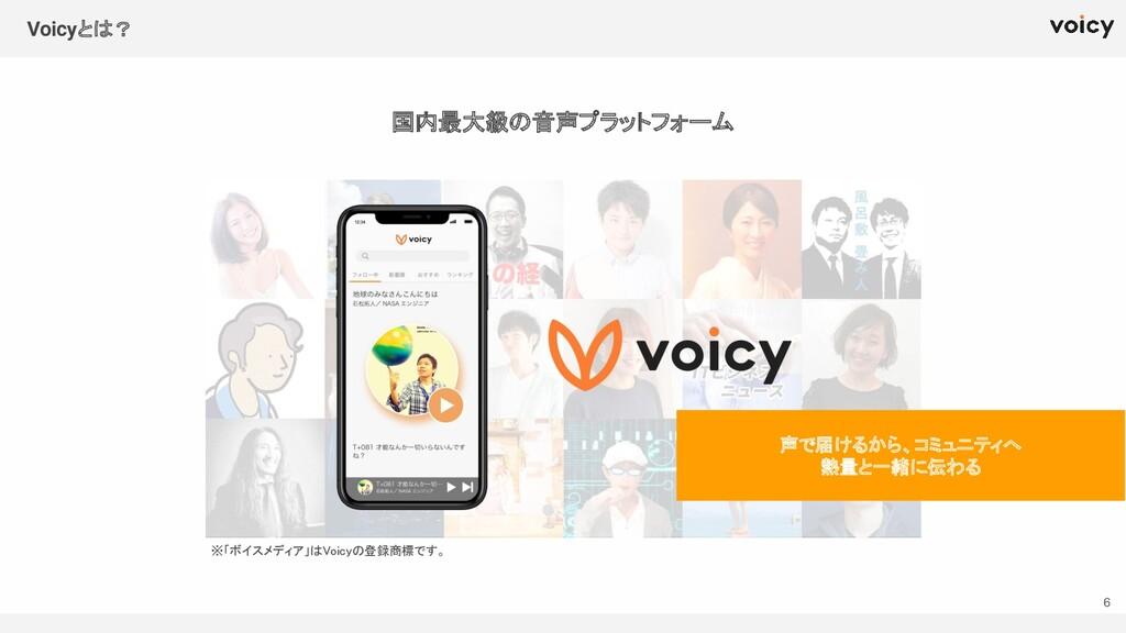 国内最大級の音声プラットフォーム ※「ボイスメディア」はVoicyの登録商標です。  Vo...