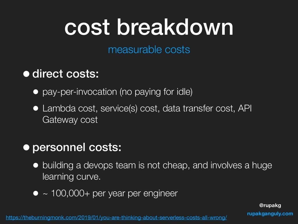 @rupakg rupakganguly.com cost breakdown •direct...