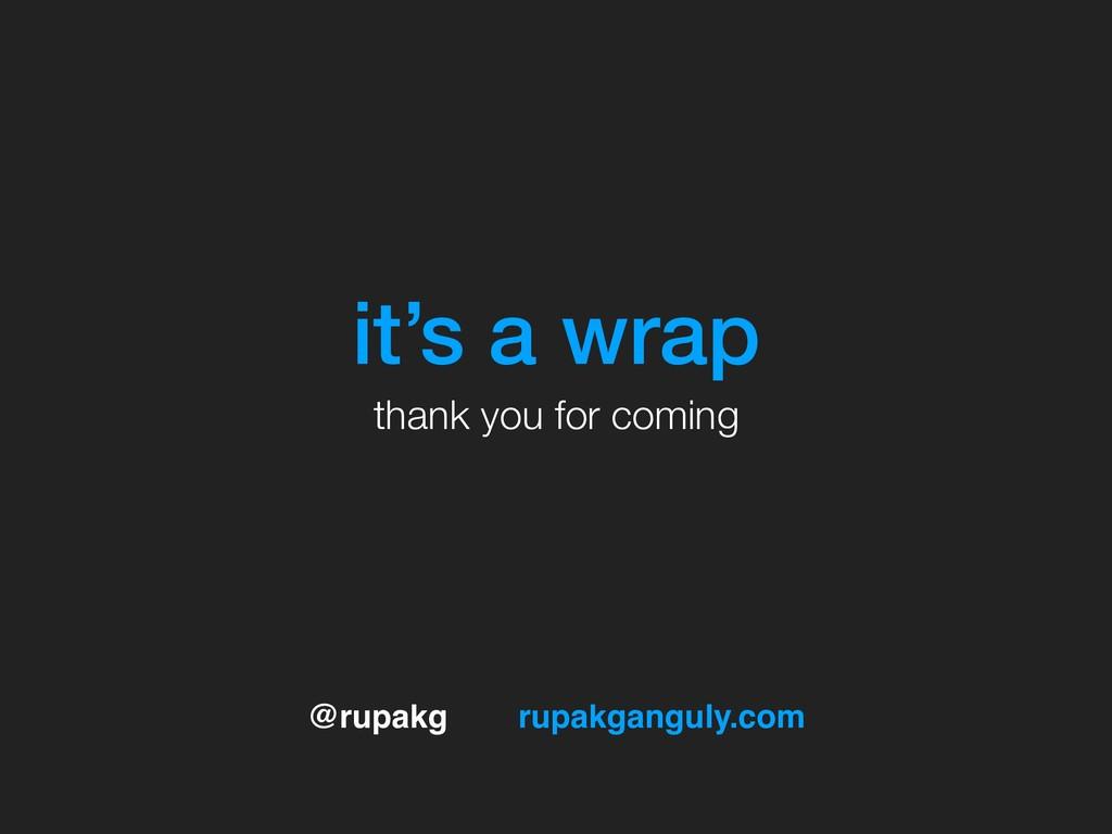 @rupakg rupakganguly.com it's a wrap thank you ...